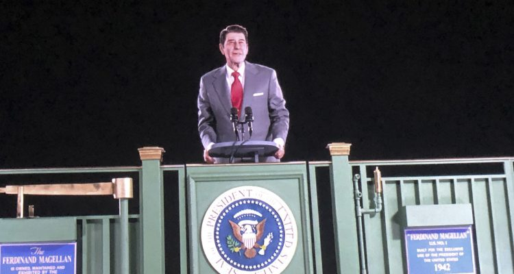 Photo of Ronald Reagan hologram