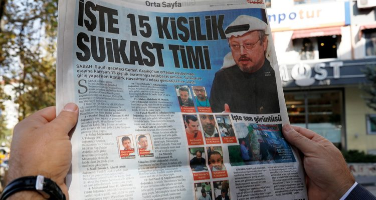 "Photo of the Sabah newspaper with a headline reading ""15-member assassination squad"" in Ankara"