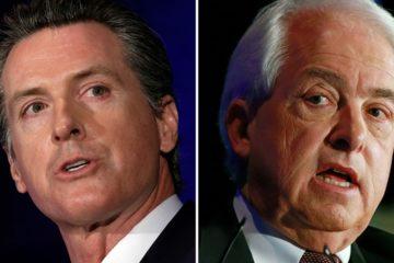 Photo combo of Gavin Newsom and John Cox