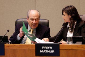 Photo of George Diehr and board Vice President Priya Mathur