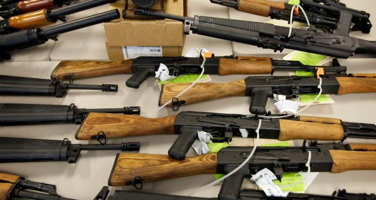 Photo of guns that were smuggled into Mexico