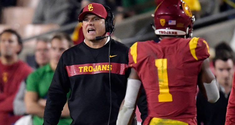Photo of USC coach Clay Helton