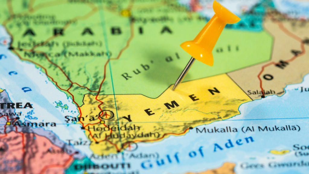 Map of Yemen/Saudi Arabia region