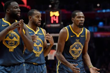 Photo of Kevin Durant, Draymond Green and Andre Iguodala