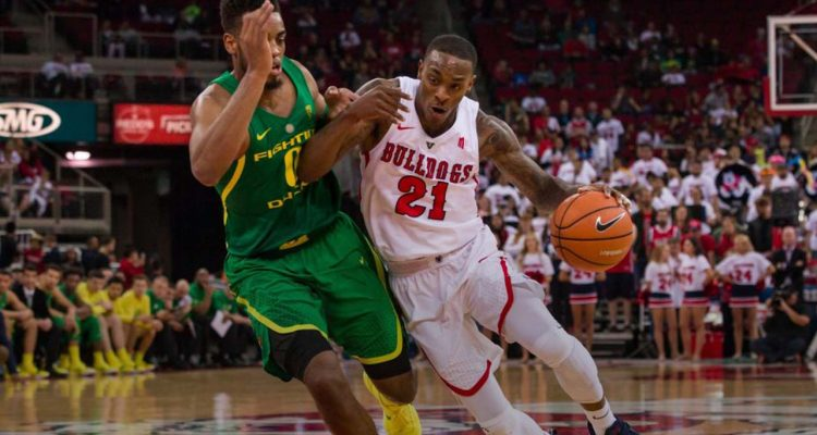 Photo of Fresno State basketball player DeShon Taylor