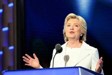 Photo of Hillary Clinton speaking