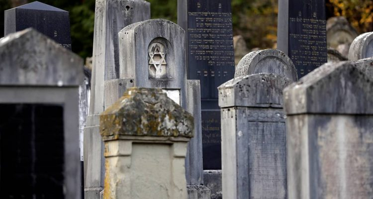 Photo of Jewish grave stones in Germany