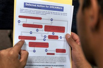 Photo of a person reading a guide in order to apply for DACA