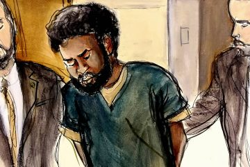 Photo of court room file drawing of Akayed Ullah