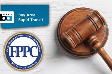 Photo of gavel with BART and FPPC logos