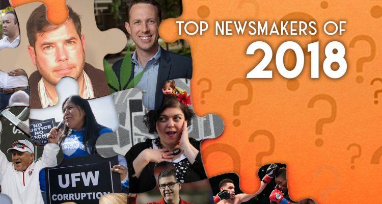 Illustration of 2018 Fresno newsmakers