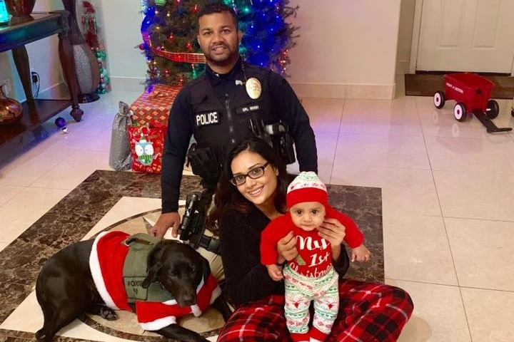 Photo of slain officer and his family