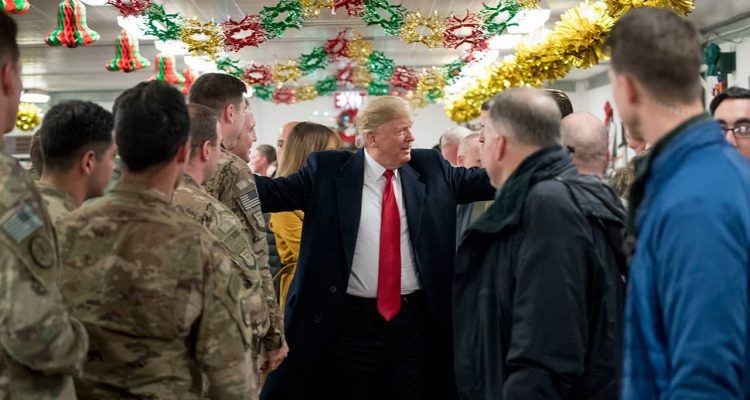 Photo of President Donald Trump in Iraq