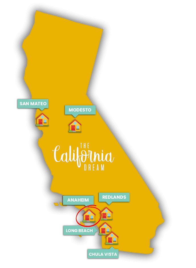 Graphic of California map