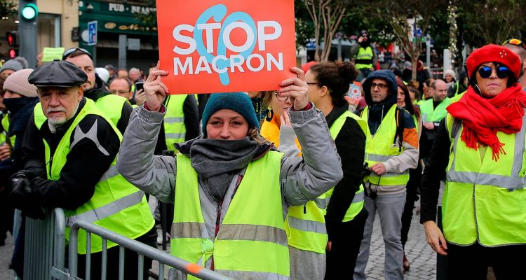 "Photo of ""Yellow Vest"" protester in Biarritz, France"