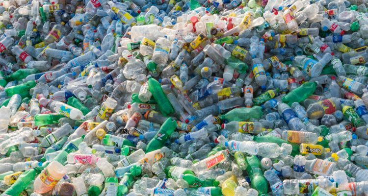 Huge pile of plastic bottles
