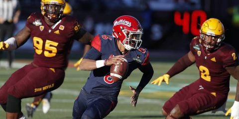 Photo of Fresno State quarterback Marcus McMaryion