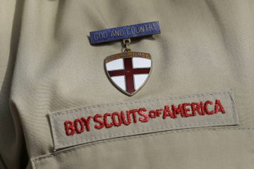 Photo of a detail of a boy scout uniform