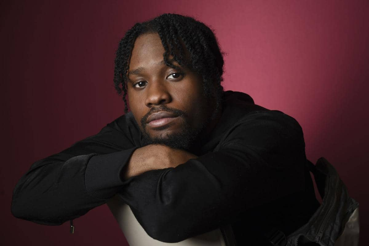 """Photo of Shameik Moore, a cast member in """"Spider-man: Into the Spider-Verse"""""""