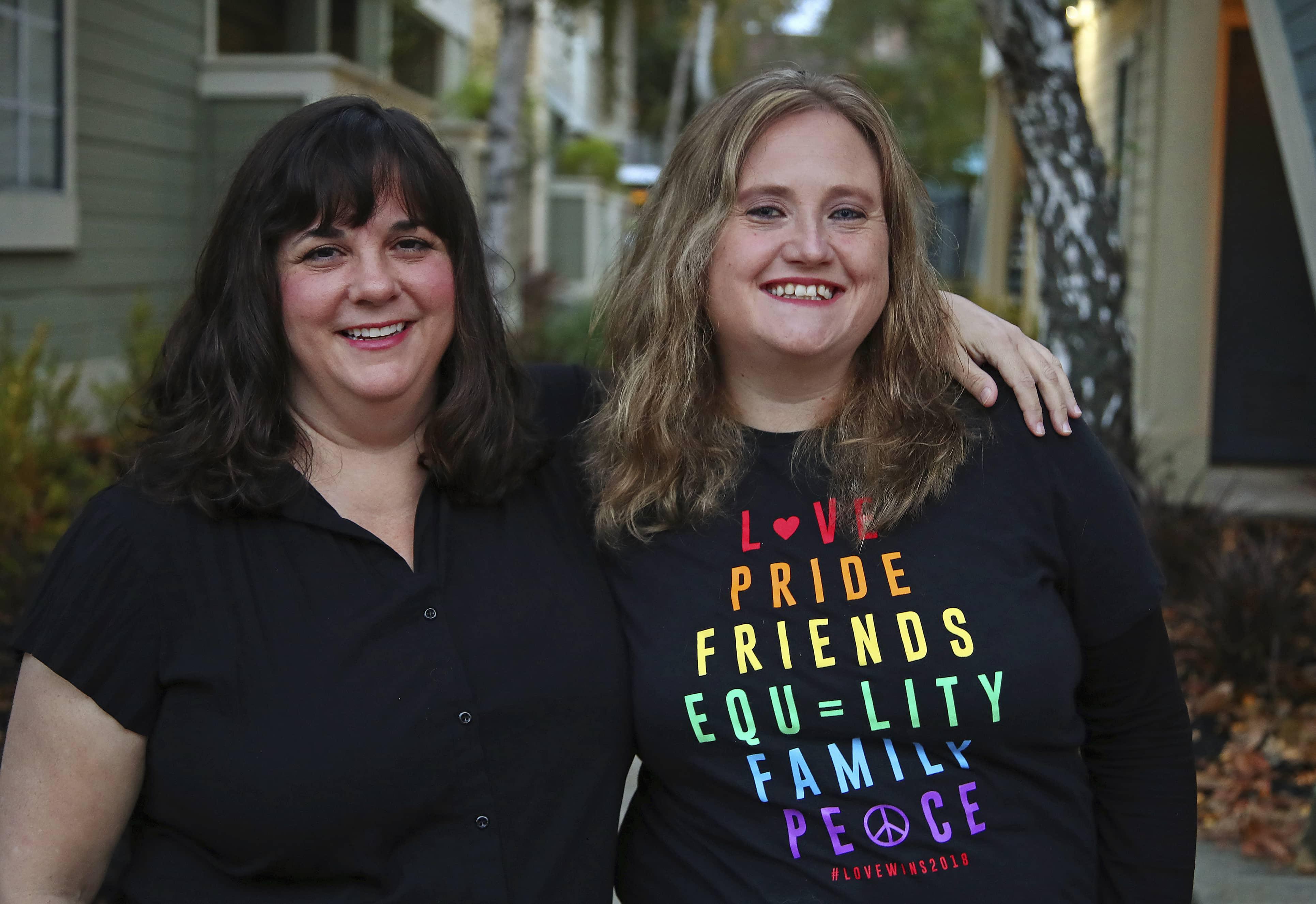 Photo of Dawn Kosmakos, left, and Nancy Collins