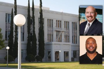 Composite Photo of Fresno County Hall of Records and District 2 candidates Steve Brandau and Steve Hosey