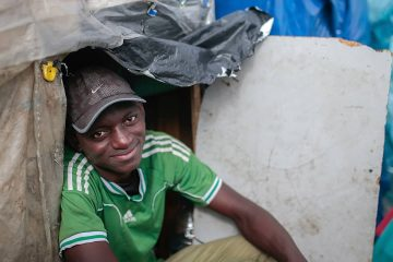 Photo of a migrant from Guinea