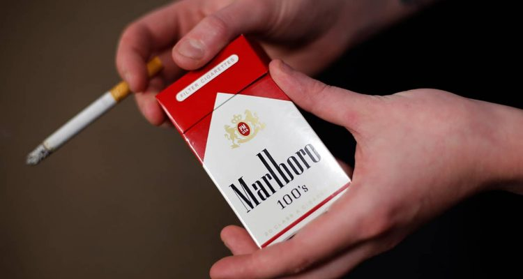 Photo of a pack of Marlboro cigarettes