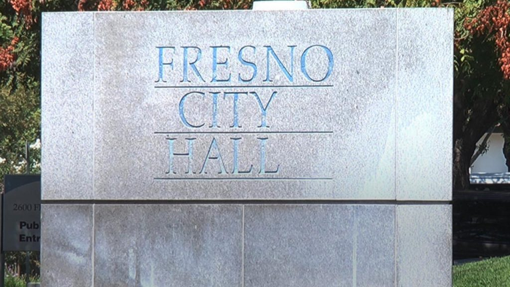Photo of Fresno City Hall sign