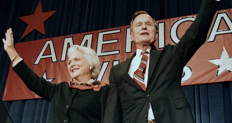 Photo of George H.W. Bush and Barbara Bush