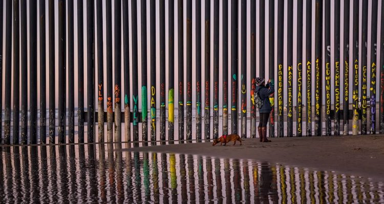 Photo of the border fence