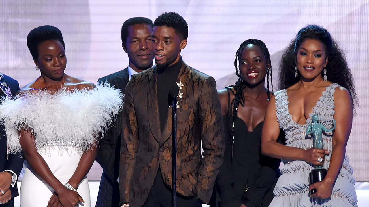 Photo of Black Panther cast members