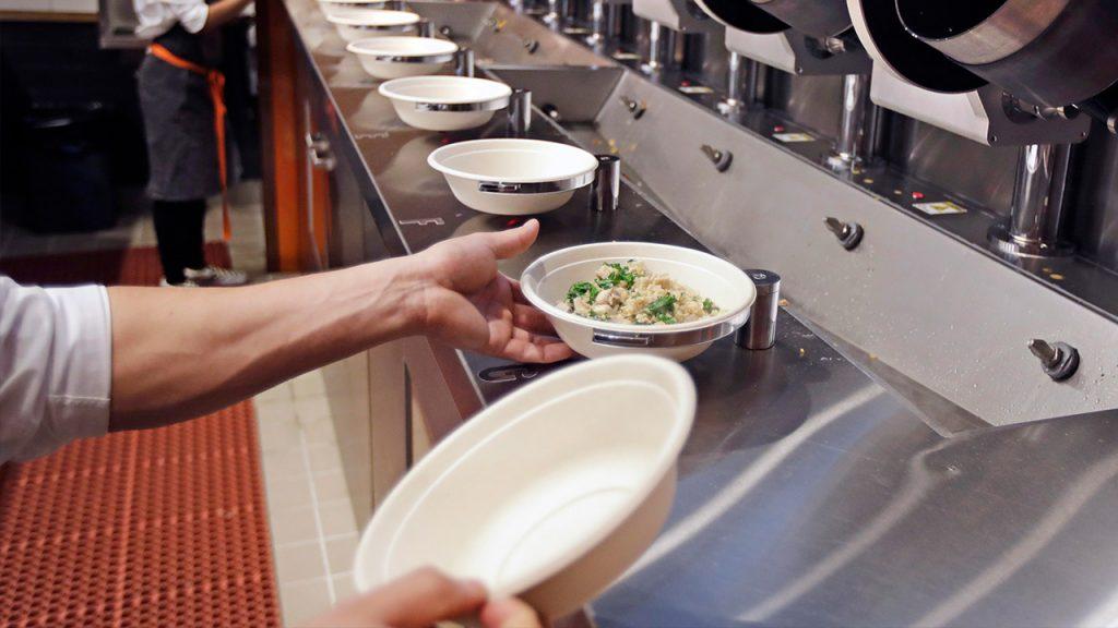 Photo of robotic food preparation