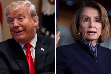 Photo combination of Donald Trump and Nancy Pelosi