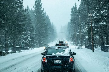 Photo of heavy snow that made it slow going for Lake Tahoe area motorists the weekend of Jan. 5-6, 2019.