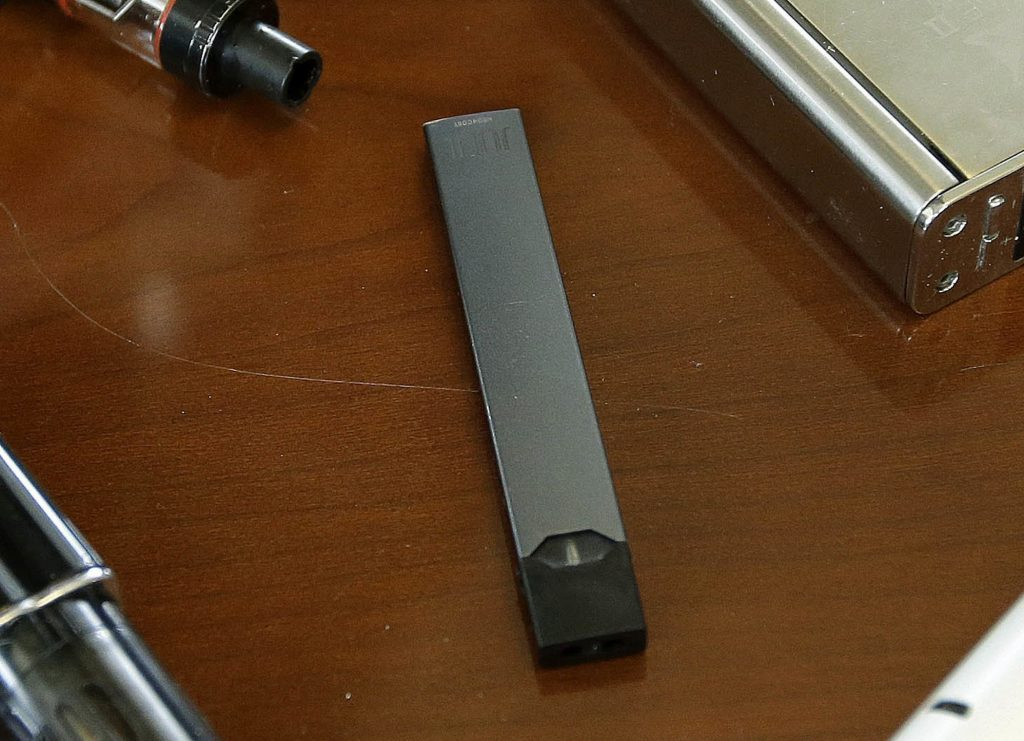 Photo of Juul e-cig products