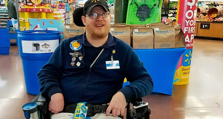 Photo of Walmart greeter John Combs in Vancouver, Washington