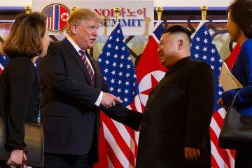 Photo of Donald Trump and Kim Jong Un