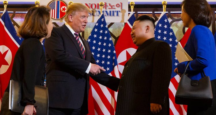 Photo of Donald Trump and Kim Jong Un