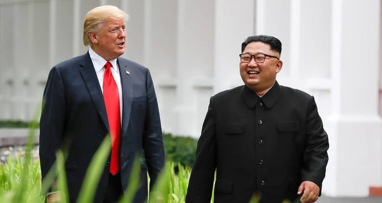 Photo of President Donald Trump and Kim Jong Un