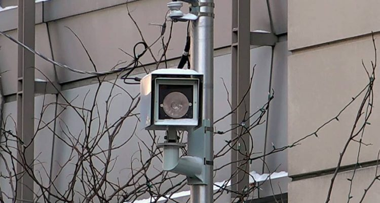 Photo of security camera in Chicago