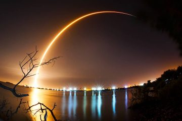 Photo of SpaceX Falcon9 launch in Cape Canaveral, FL.