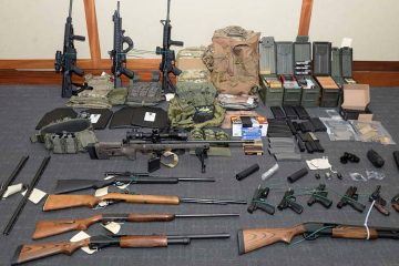 Photo of firearms and ammunition