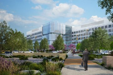 Architect's rendering of new Kaiser Permanente Medical School in Pasadena