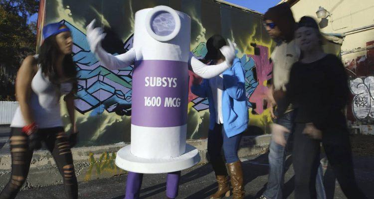 Photo of rap video scene using dancing fentanyl spray