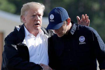 Photo of Donald Trump and Brock Long