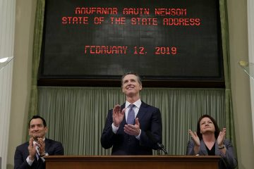 Gavin Newsom at his State of the State address