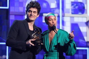 Photo of John Mayer and Alicia Keys