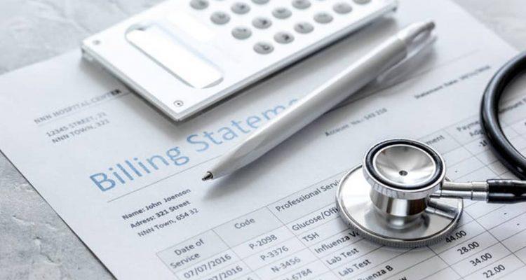 Photo of hospital billing statement
