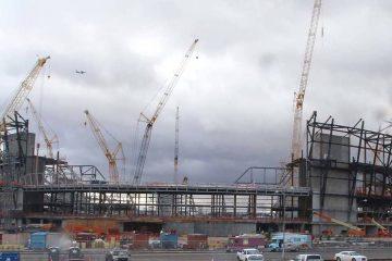 Photo of Raiders Stadium construction