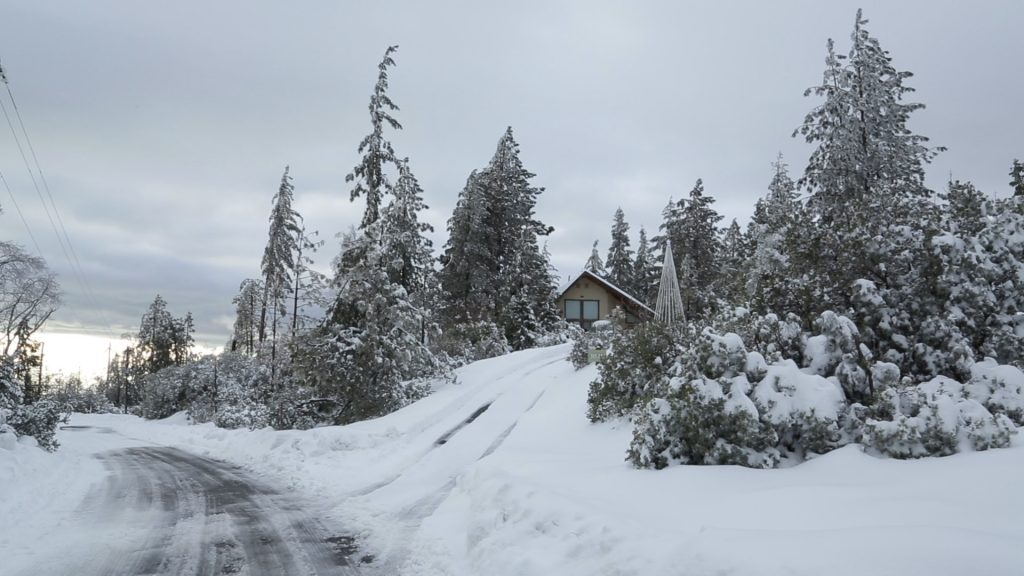 Photo of snow in Shaver Lake area